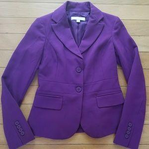 NY & Co purple/plum 2 button career blazer jacket